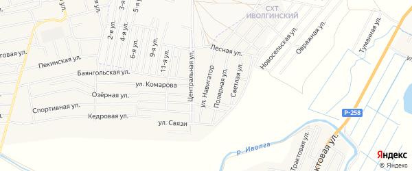 Территория ДНТ Навигатор на карте улуса Хойтобэе с номерами домов