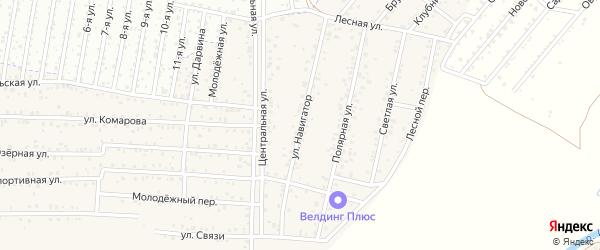 Улица Навигатор на карте территории ДНТ Авиатор-2 с номерами домов