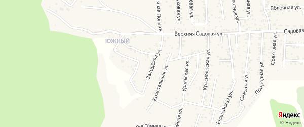 Квартал Южный Заводская улица на карте села Сотниково с номерами домов