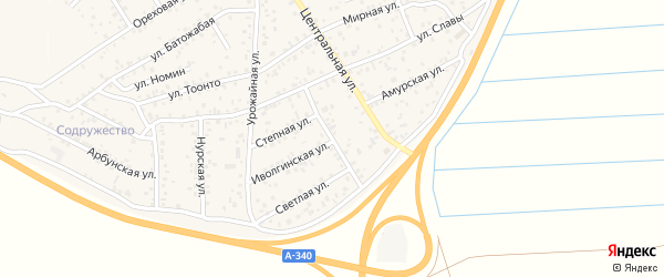 Тополиная улица на карте улуса Нур-селения с номерами домов