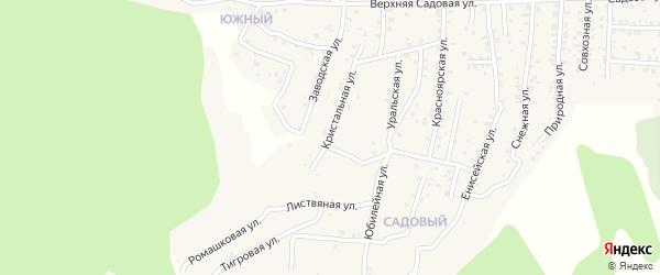 Квартал Южный Кристальная улица на карте села Сотниково с номерами домов