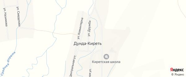 Карта улуса Дунда-Киреть в Бурятии с улицами и номерами домов