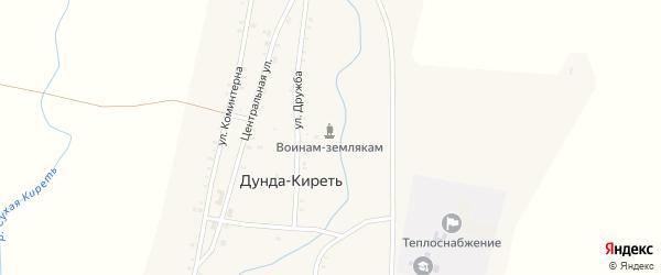 Центральная улица на карте улуса Дунда-Киреть с номерами домов