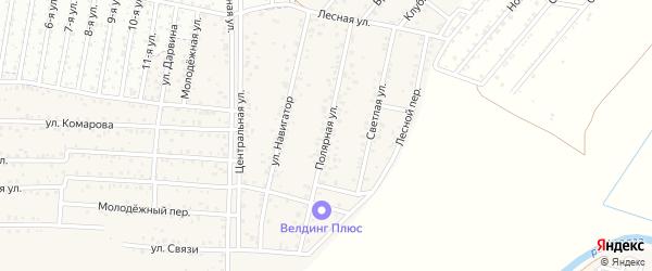 ДНТ Авиатор-2 Полярная улица на карте улуса Хойтобэе с номерами домов
