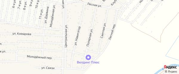 Полярная улица на карте территории ДНТ Авиатор-2 с номерами домов