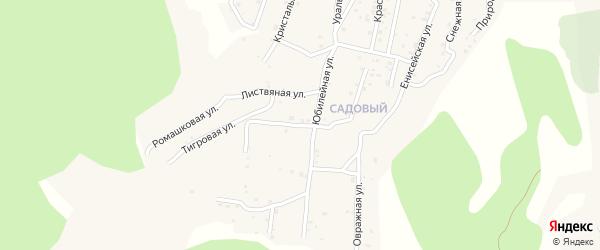Квартал Садовый Вербная улица на карте села Сотниково с номерами домов