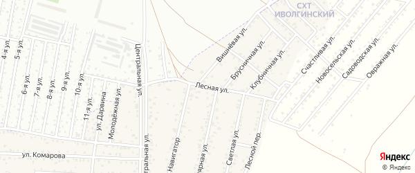 ДНТ Авиатор-2 Лесная улица на карте улуса Хойтобэе с номерами домов