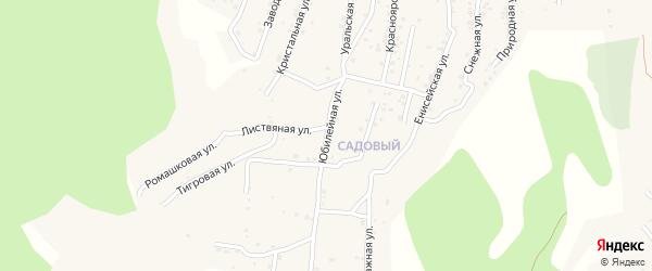 Квартал Садовый Юбилейная улица на карте села Сотниково с номерами домов