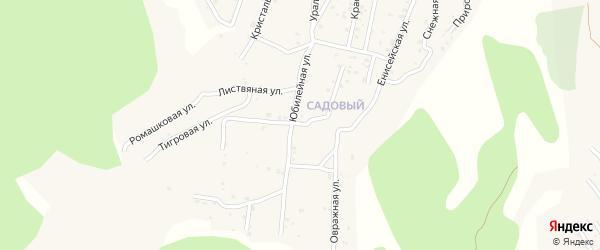 Квартал Южный Вербная улица на карте села Сотниково с номерами домов