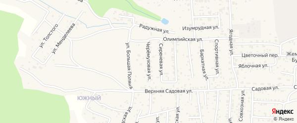 Черемуховая улица на карте села Сотниково с номерами домов