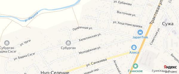 Халютинская улица на карте улуса Нур-селения с номерами домов