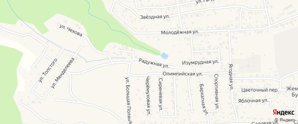 Радужная улица на карте села Сотниково с номерами домов
