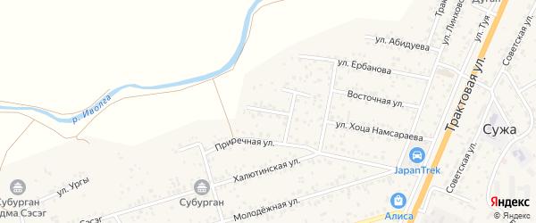 Улица Ая-Ганга на карте села Сужа с номерами домов