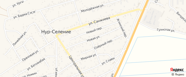 Новая улица на карте улуса Нур-селения с номерами домов