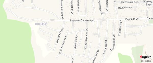 Квартал Садовый Кленовая улица на карте села Сотниково с номерами домов