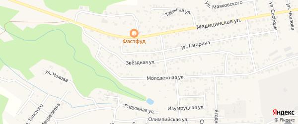 Звездная улица на карте территории ДНТ Алтаргана с номерами домов
