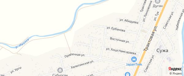 Лесная улица на карте улуса Нур-селения с номерами домов