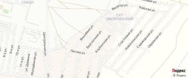 Брусничная улица на карте Улан-Удэ с номерами домов