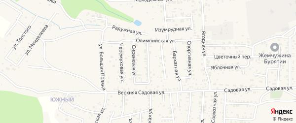 Березовая улица на карте села Сотниково с номерами домов
