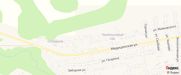 Сосновая улица на карте села Сотниково с номерами домов