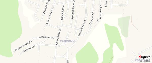Заветная улица на карте Улан-Удэ с номерами домов