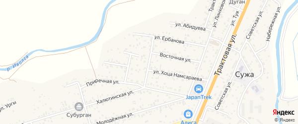 Почтовая улица на карте Улан-Удэ с номерами домов