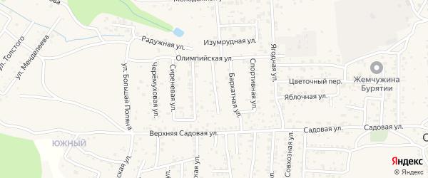 Жемчужная улица на карте территории ДНТ Лика с номерами домов