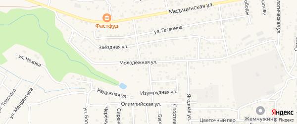 Молодежная улица на карте села Сотниково с номерами домов