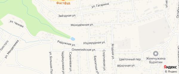 Иволгинская улица на карте села Сотниково с номерами домов