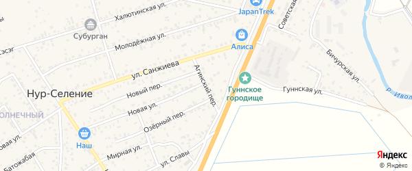 Агинский переулок на карте улуса Нур-селения с номерами домов