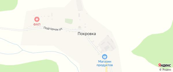 Улица Верхний поселок на карте села Покровки с номерами домов