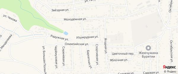 Изумрудная улица на карте территории Светлого с номерами домов