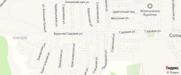 Тыльная улица на карте территории ДНТ Выбора с номерами домов