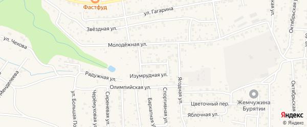 Иволгинский переулок на карте села Сотниково с номерами домов
