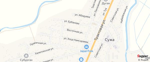 Восточная улица на карте улуса Нур-селения с номерами домов