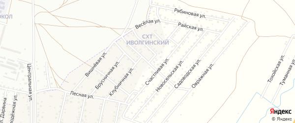 Счастливая улица на карте территории Сокола с номерами домов