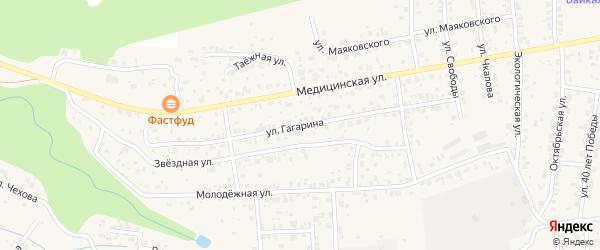 Улица Гагарина на карте села Сотниково с номерами домов
