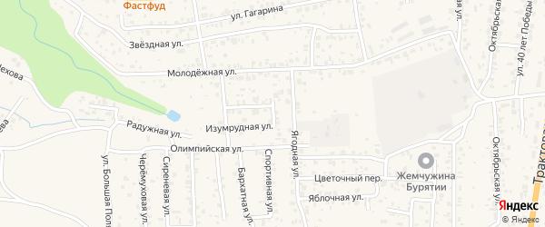 Рябиновая улица на карте села Сотниково с номерами домов