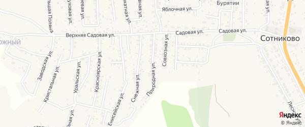 Улица Парковая (ДНТ Выбор) на карте села Сотниково с номерами домов