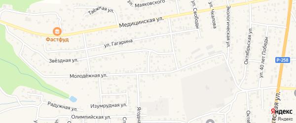 Сельскохозяйственная улица на карте села Сотниково с номерами домов
