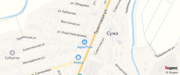 Восточный квартал на карте улуса Нур-селения с номерами домов