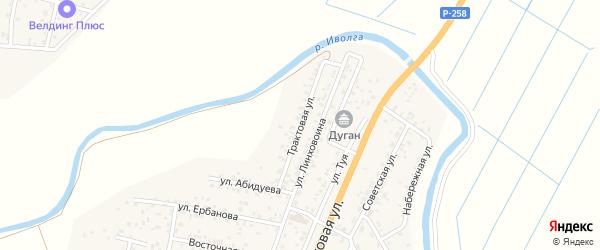 Трактовая улица на карте улуса Нур-селения с номерами домов