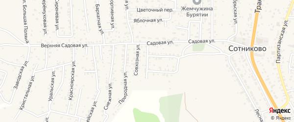 Улица Восточная (ДНТ Выбор) на карте села Сотниково с номерами домов