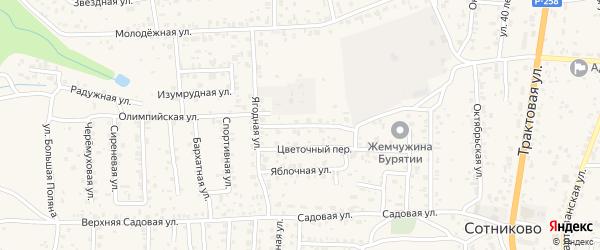 Земляничный переулок на карте Улан-Удэ с номерами домов