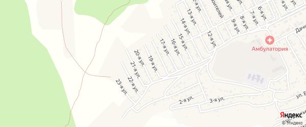 2-й квартал 19-я улица на карте территории СНТ Багульника с номерами домов