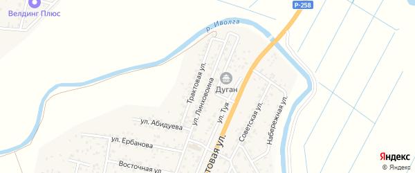 Улица Линховоина на карте улуса Нур-селения с номерами домов
