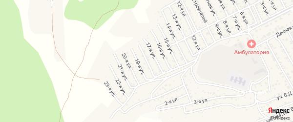 2-й квартал 18-я улица на карте территории СНТ Багульника с номерами домов