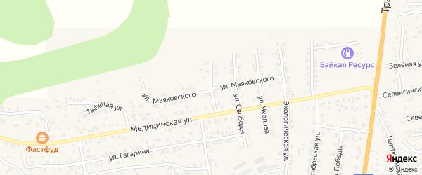 Горная улица на карте села Сотниково с номерами домов