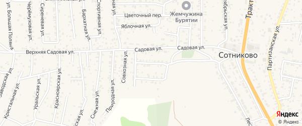 Переулок Олимпийца (ДНТ Выбор) на карте села Сотниково с номерами домов