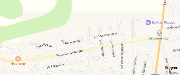 Улица Маяковского на карте села Сотниково с номерами домов